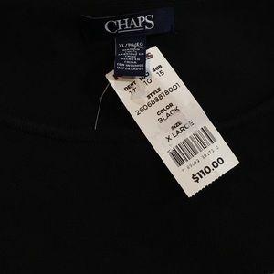 Chaps Dresses - Chaps Black & White Knit Dress Size XL